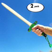 Green and Black Camo Wooden Sword 2-Pack