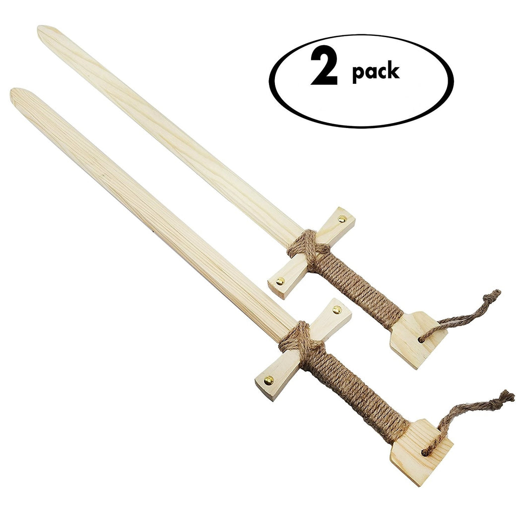 Wooden Knight Swords