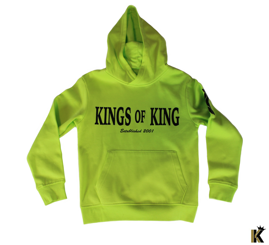 Kings of King Lime Green Kids Hoodie
