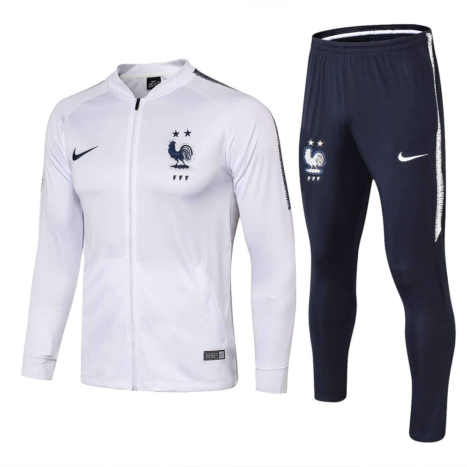 hot sale online d8f16 eb697 France national football team Nike 2018-19 Pre-Match Replica TRAINING Zip  Casual TOPS TRACKSUIT FÚTBOL CALCIO SOCCER FUSSBALL BNWT Men's Jogging ...