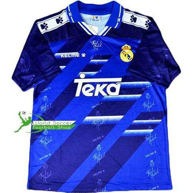 Real Madrid C.F. Football club Away Blue KELME 1994-96 Retro Classic Vintage Rare Jogo FÚTBOL SOCCER KIT CALCIO SHIRT Futebol JERSEY FUSSBALL CAMISA CAMISETA TRIKOT MAILLOT MAGLIA BNWT