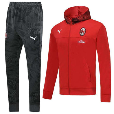 A.C. Milan Football club Puma Rossoneri 2019-20 Replica TRAINING TRACKSUIT Hat pollover Full Zip hooded hoodies Futebol Casual TOPS FÚTBOL Survetement CALCIO SOCCER FUSSBALL Sweatshirt Jogging Pants Sportswear Set BNWT