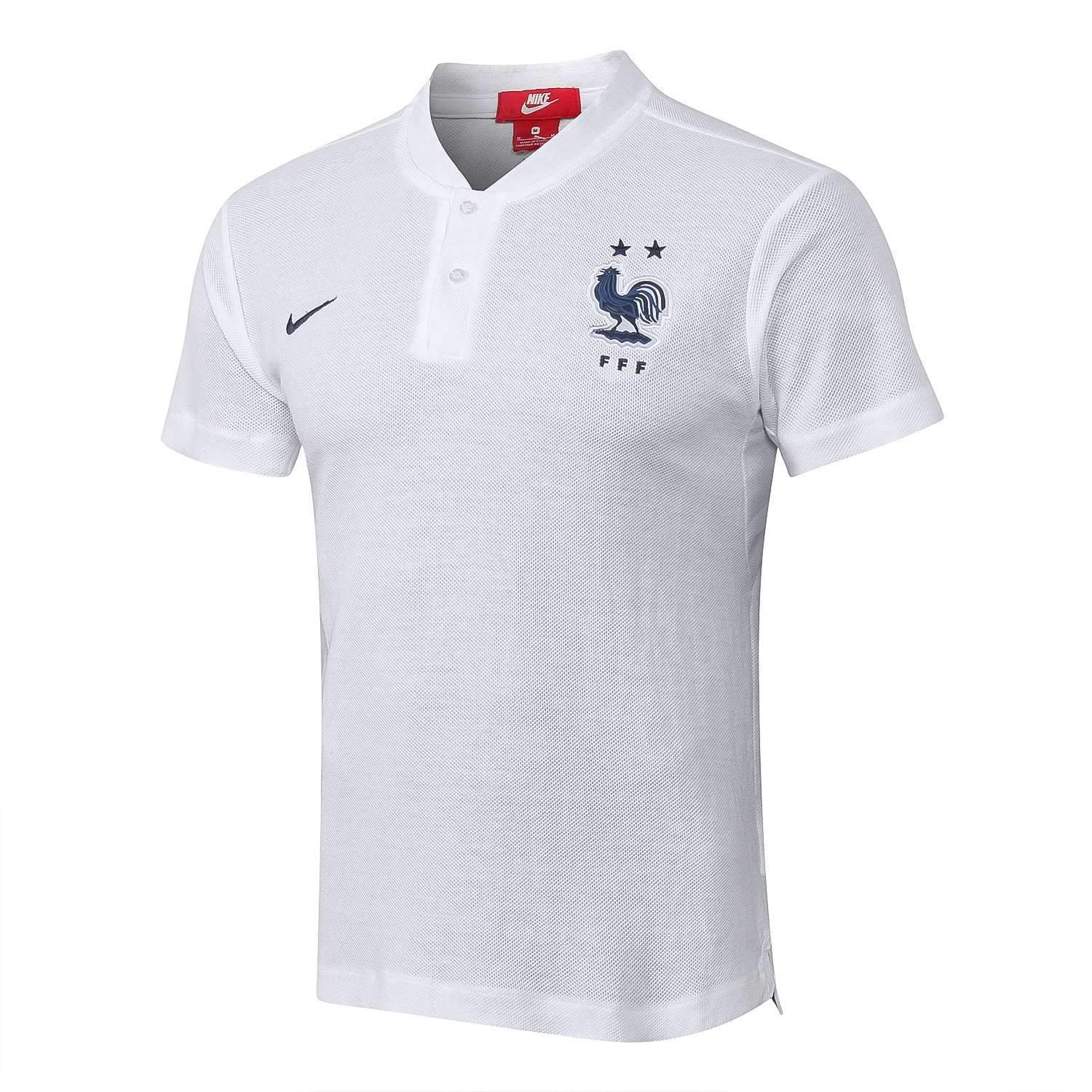 low priced 5ab65 5313f France national football team Les Bleus Nike 2018-19 Polo ...