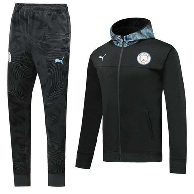 Manchester City F.C. Football club Citizens Puma 2019-20 Replica TRAINING TRACKSUIT Hat pollover Full Zip hooded hoodies Futebol Casual TOPS FÚTBOL Survetement CALCIO SOCCER FUSSBALL Sweatshirt Jogging Pants Sportswear Set BNWT
