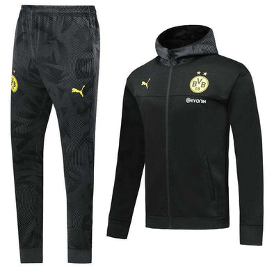 Ballspielverein Borussia 09 e.V. Dortmund Puma 2019-20 Replica TRAINING TRACKSUIT Hat pollover Full Zip hooded hoodies Futebol Casual TOPS FÚTBOL Survetement CALCIO SOCCER FUSSBALL Sweatshirt Jogging Pants Sportswear Set BNWT