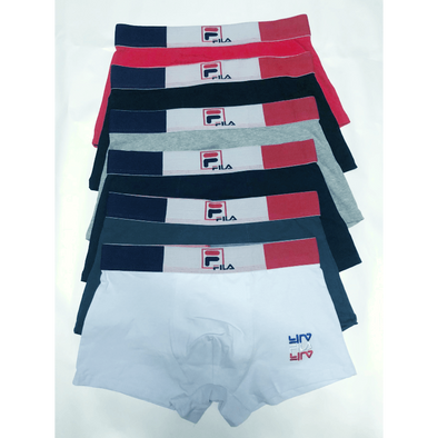 MEN'S FILA Underpants Multi-Color TRUNK SHORTS UNDERWEAR Fit 100% Cotton Boxer Briefs 10 IN A PACK biancheria intima Unterwäsche la ropa interior BNWT