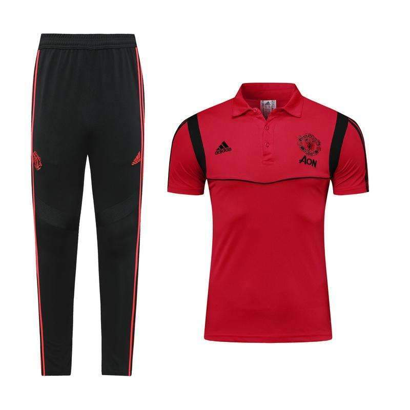 manchester united adidas polo