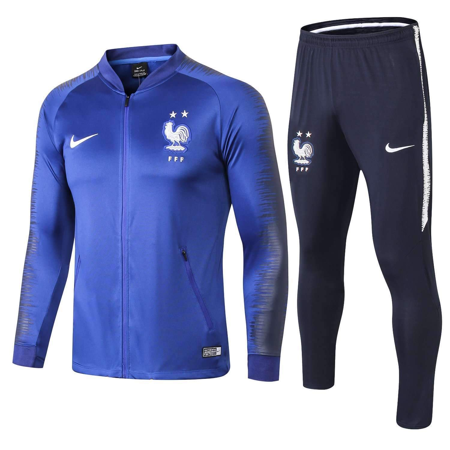 the latest 37c0e cd302 France national football team Nike 2018-19 Pre-Match Replica TRAINING Blue  Zip Casual TOPS TRACKSUIT FÚTBOL CALCIO SOCCER FUSSBALL BNWT Men's Jogging  ...