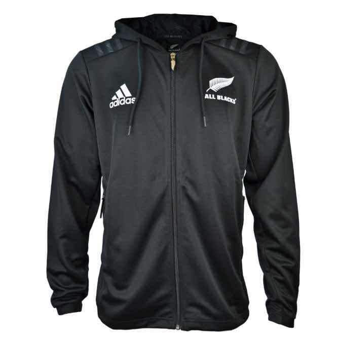 detailed images online retailer huge inventory New Zealand national rugby union team ALL BLACKS Adidas RUGBY JACKET  2018-19 Replica ANTHEM Jacket Coat TRAINING Hat Casual TOPS Men's Jogging  Track ...