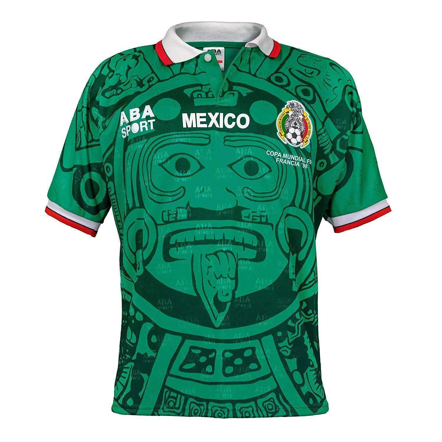 Mexico 1998 Home Fussball Retro Soccer Jersey Football Shirt Bnwt