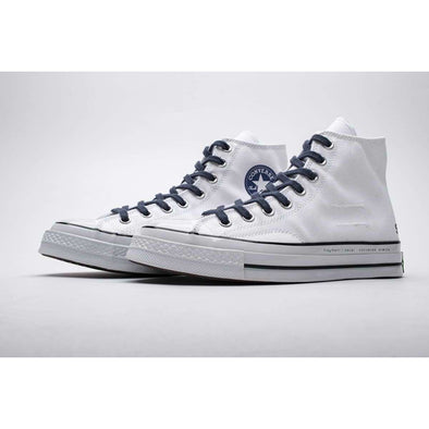 160329C Converse CTAS 70 HI White Black Navy Fashion Basketball Shoes High Top Sports Sneakers Athletic Leisure Running Casual BNWT