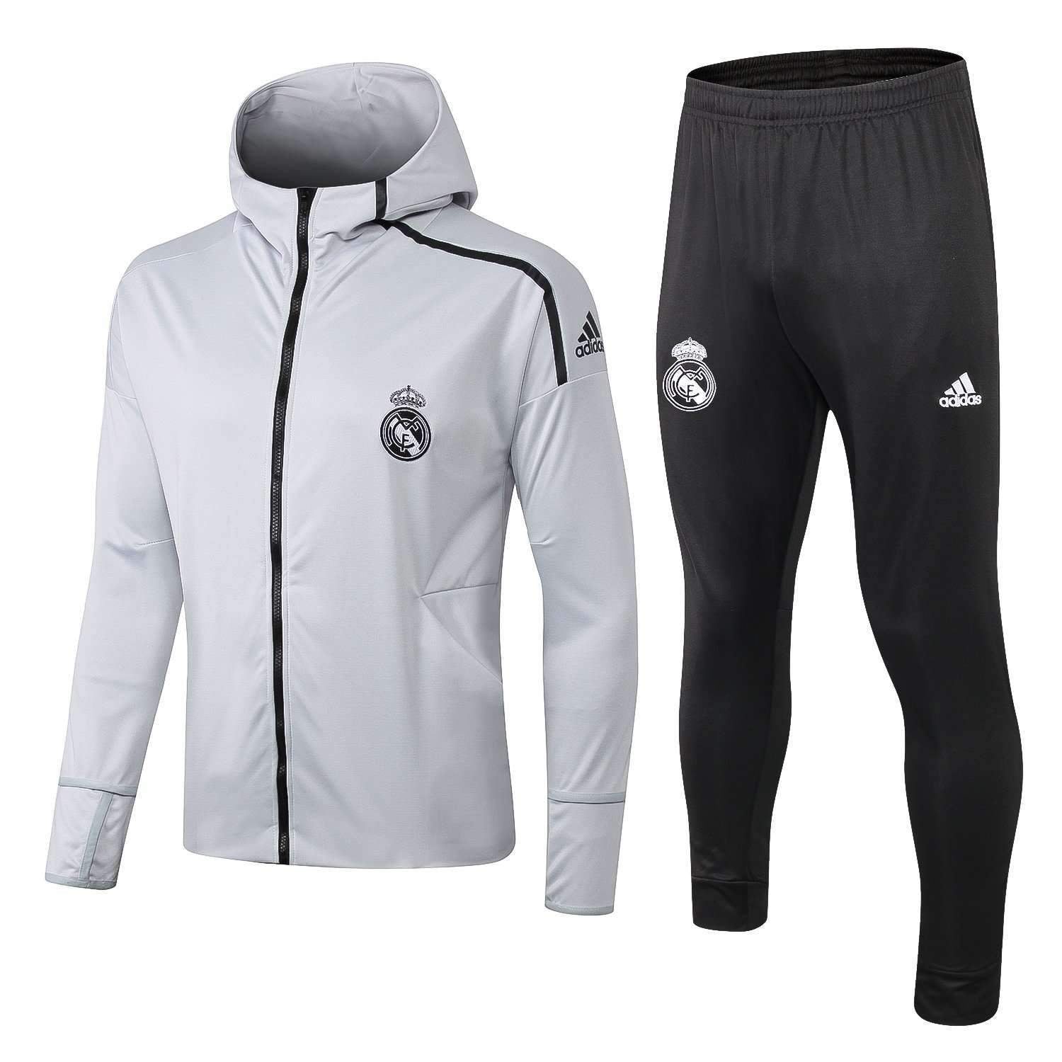 authentic quality aliexpress later Real Madrid C.F. Football club Adidas 2018-19 Men's Pre-Match Replica  Pullover TRAINING Zip Casual TOPS TRACKSUIT FÚTBOL CALCIO SOCCER FUSSBALL  ...