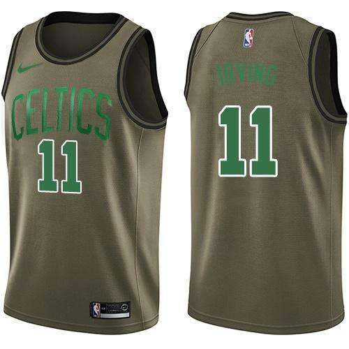 new concept e17ce cbde9 Boston Celtics Nike NBA #Kyrie Irving11 Men's Replica Shirt Jersey Green  Army Basketball team National Basketball Association League -