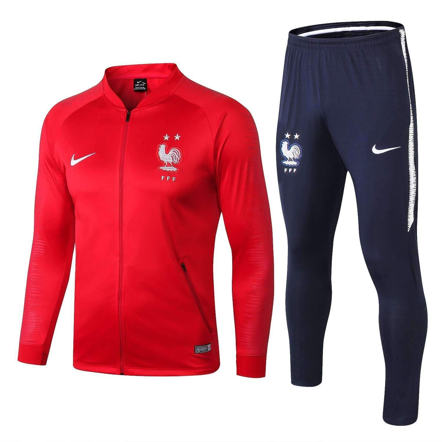 pretty nice f8431 16543 France national football team Nike 2018-19 Pre-Match Replica TRAINING Red  Zip Casual TOPS TRACKSUIT FÚTBOL CALCIO SOCCER FUSSBALL BNWT Men's Jogging  ...