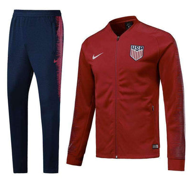 United States men's national soccer team Association Football team USMNT The Stars and Stripes Nike 2018-19 Replica TRAINING Casual TOPS TRACKSUIT FÚTBOL CALCIO SOCCER FUSSBALL Jogging Tracksuit Full Zip Sweatshirt Jogging Pants Sportswear Set BNWT