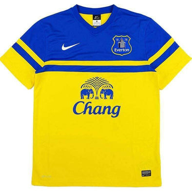 Everton F.C. Football club 2013-14 Away Yellow Nike Original FÚTBOL SOCCER CALCIO SHIRT JERSEY FUSSBALL CAMISA TRIKOT MAILLOT MAGLIA Camiseta BNWT