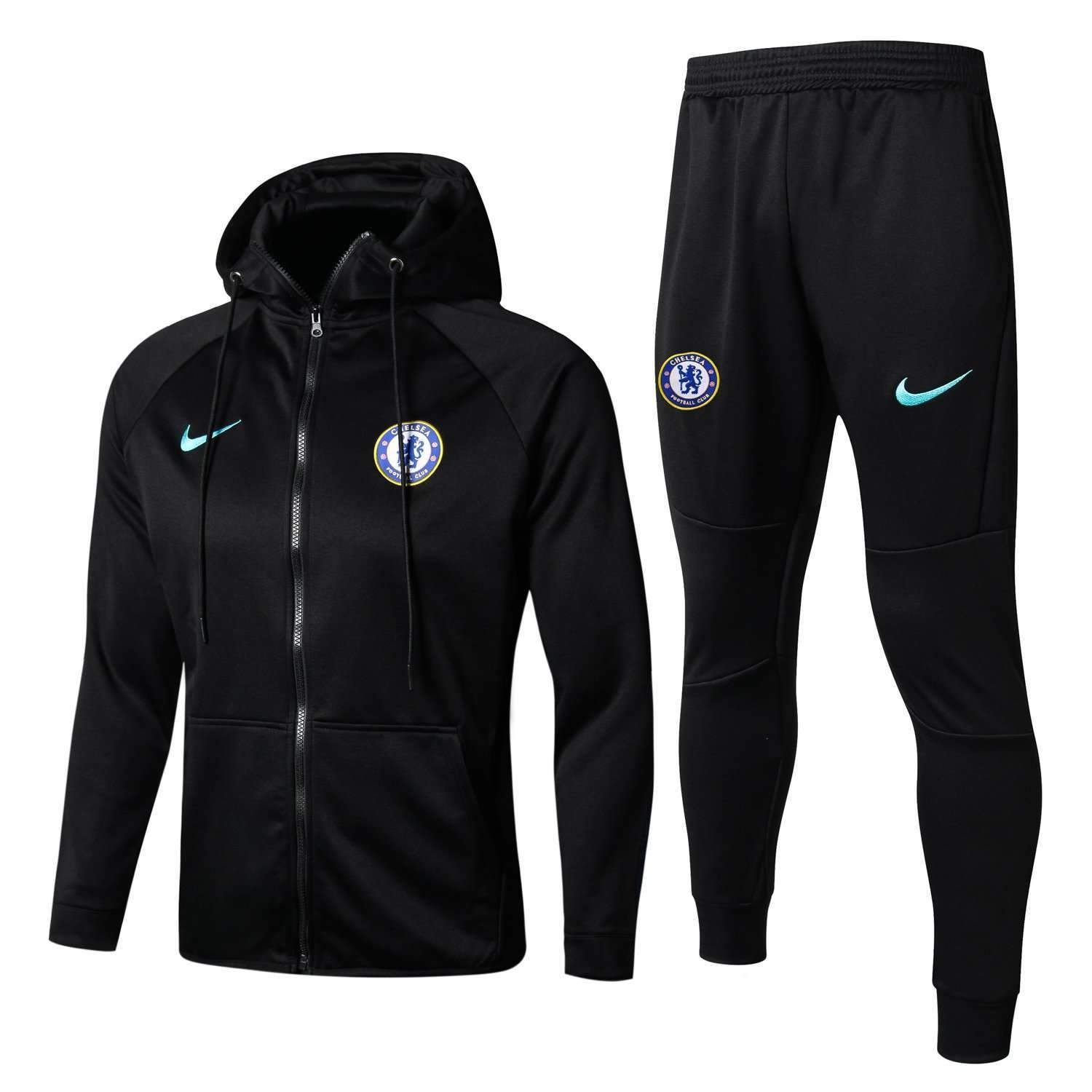pick up cc070 568d1 Chelsea F.C. Football club Black Nike 2017-18 Pre-Match Replica Pullover  TRAINING Zip Casual TOPS TRACKSUIT FÚTBOL CALCIO SOCCER FUSSBALL BNWT Men's  ...