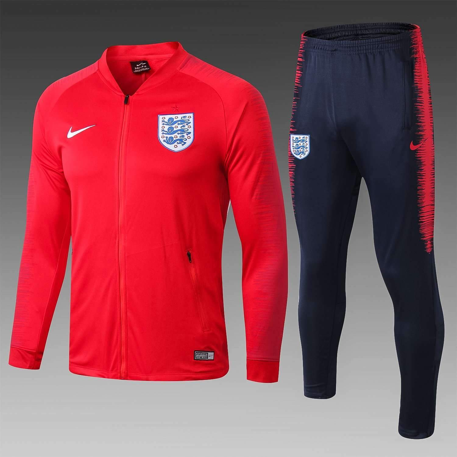 new product 1405a 6c127 England national football team Nike Red 2018-19 Pre-Match Replica TRAINING  Zip Casual TOPS TRACKSUIT FÚTBOL CALCIO SOCCER FUSSBALL BNWT Men's Jogging  ...
