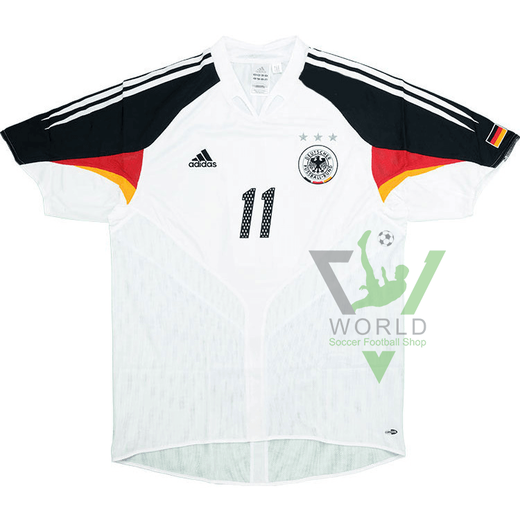newest collection 79055 2c57e Germany national football team Die Mannschaft Home Adidas UEFA Euro 2004  Short sleeve Football Shirt Trikot Maglia Camiseta De Fútbol classic rare  ...