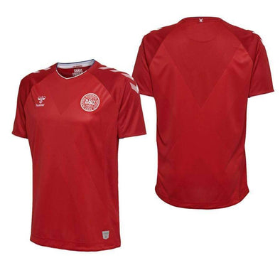 Denmark NEW Hummel ADULT FOOTBALL SOCCER WC18 HOME JERSEY SHIRT BNWT