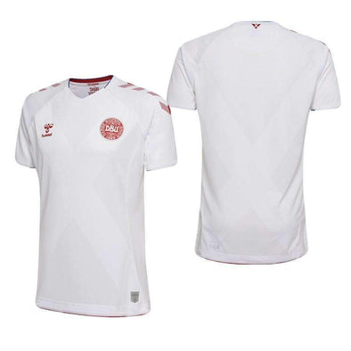 DENMARK NEW HUMMEL ADULT FOOTBALL SOCCER WC18 AWAY JERSEY SHIRT BNWT