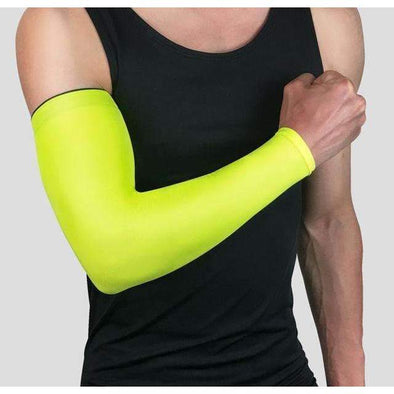 1Pcs Breathable Quick Dry UV Protection Running Arm Sleeves Basketball Elbow Pad Fitness Armguards Sports Cycling Arm Warmers - World Soccer Football Shop