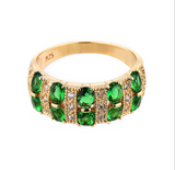 Emerald Milk Way Multi-gemstone Ring