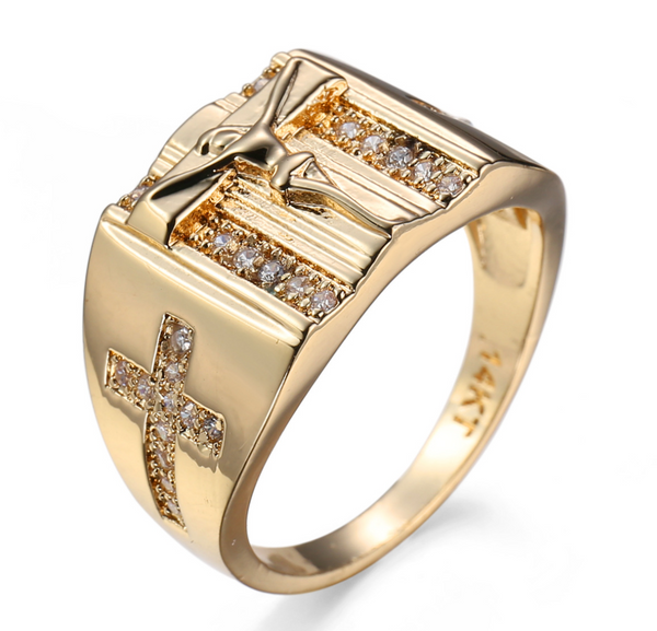 Men's Crucifix Ring