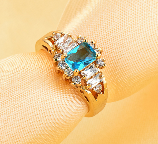 Ocean Breeze Brazilian Aquamarine Emerald Cut Ring
