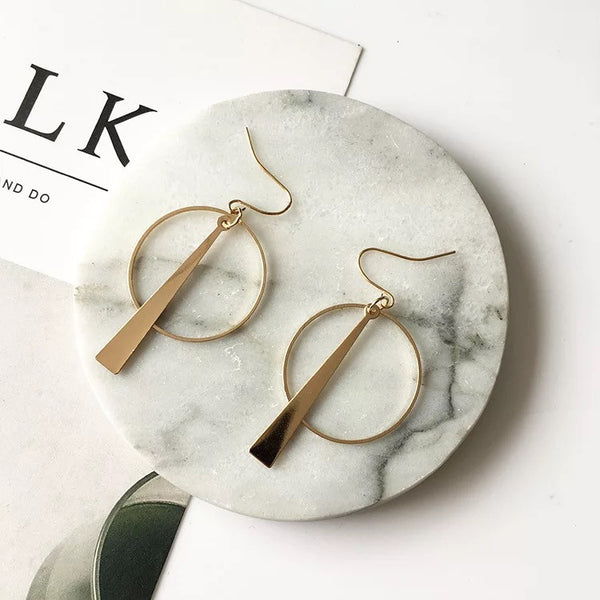 Circle and Line Post Modernism Earrings