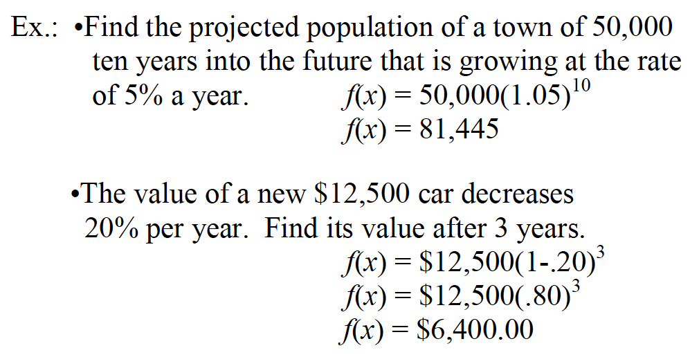 SAT 1 Math Test and Growth Decay Functions