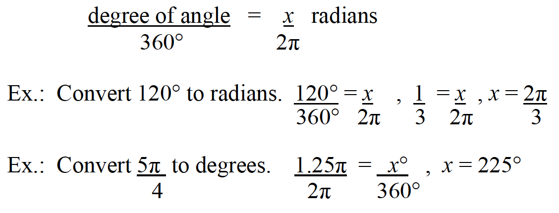 Radians on SAT 1 Math Exam