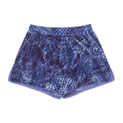 HEFNER VELVET LOUNGE SHORTS BLUE
