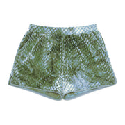 HEFNER VELVET LOUNGE SHORTS GREEN