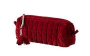 QUILTED VELVET MAKEUP BRUSH BAG RUBY RED S - McHugh Lifestyle BOHEMIAN GLAMOUR