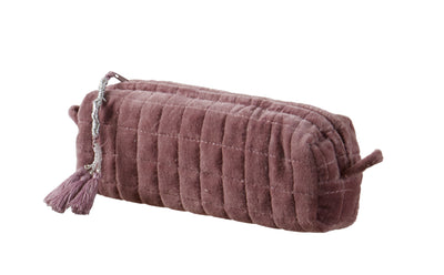QUILTED VELVET MAKEUP BRUSH BAG LIGHT PURPLE S - McHugh Lifestyle BOHEMIAN GLAMOUR
