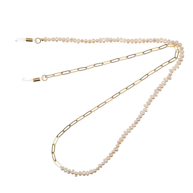 TALIS EYEGLASS CHAIN 50/50 GOLD/PEARL TWIST