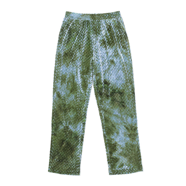 HEFNER VELVET LOUNGE TROUSERS GREEN