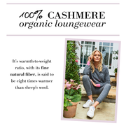LOVE 100% ORGANIC CASHMERE PANTS GREY/FUCHSIA