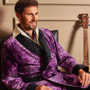 MR.HEFNER ROBE PURPLE