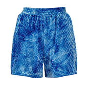 HEFNER VELVET LOUNGE SHORTS ELECTRIC BLUE