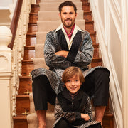 HEFNER UNISEX CHILDREN'S VELVET LOUNGE ROBE PEWTER