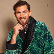 MR.HEFNER ROBE EMERALD GREEN