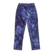 HEFNER VELVET LOUNGE TROUSERS BLUE