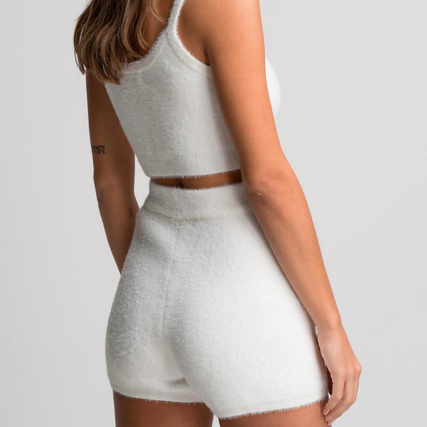 MCHUGH LOUNGE LUXE SHORT SET WHITE