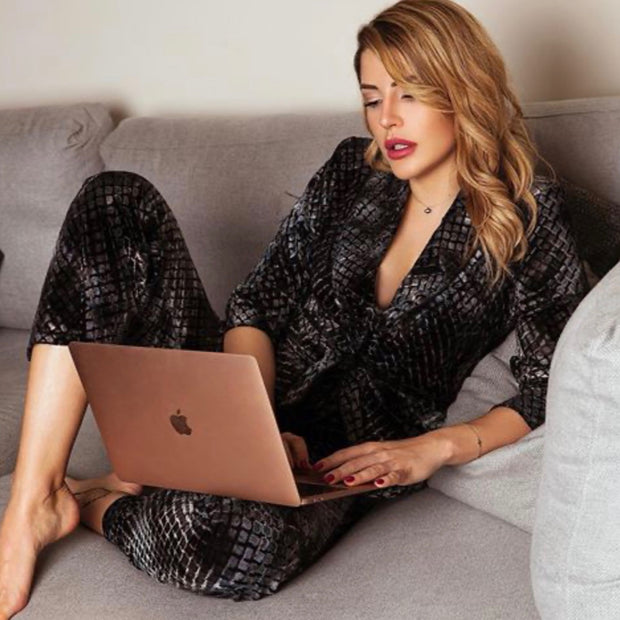 Loungewear set, Velvet suit, loungewear, Christmas outfit, christmas gifts for her , influencer, celebrity fav, luxury lifestyle, London style, american style  Edit alt text