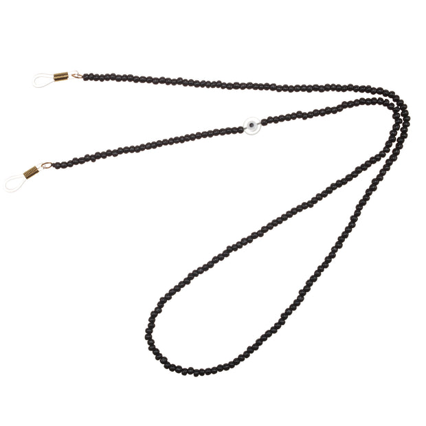 TALIS EYEGLASS EVIL EYE BLACK BEAD CHAIN