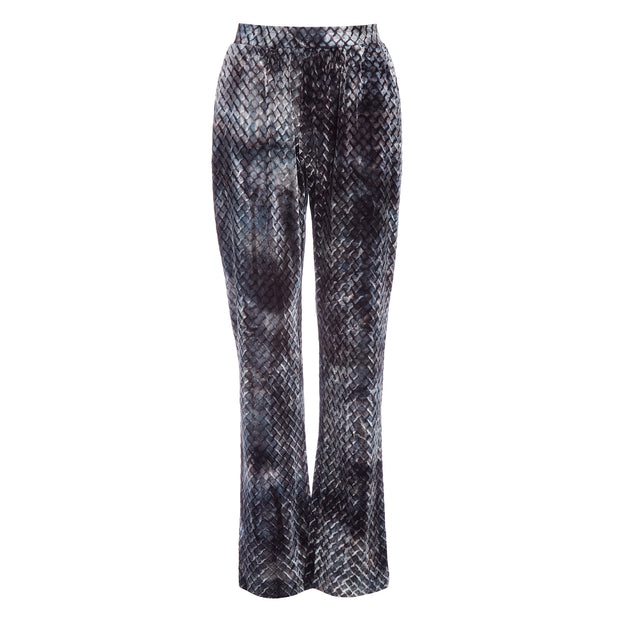 HEFNER VELVET LOUNGE TROUSERS PEWTER