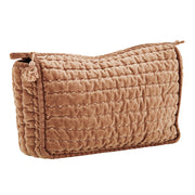 DUSTY ROSE QUILTED VELVET CLUTCH WITH TASSEL LARGE