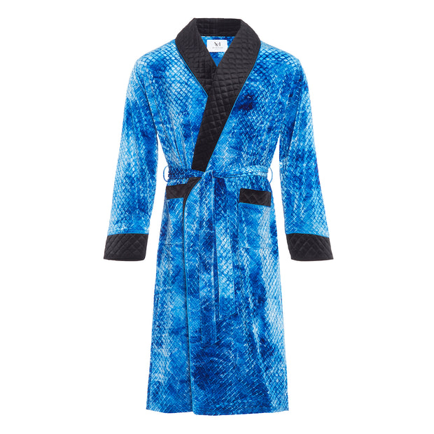 MR.HEFNER ROBE ELECTRIC BLUE